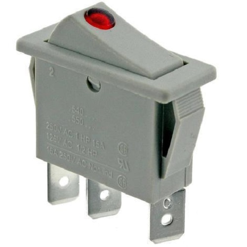Genuine DIMPLEX Storage Heater On / Off Grey Neon Rocker Switch