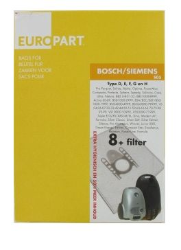 46BS01 BOSCH VACS CLEANER BOX OF 8 BAGS & FILTER QUALITY