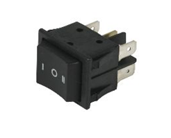 UNIVERSAL 3 POSITION SINGLE BLACK SWITCH 6 TAGS 240V 16A 62UN04