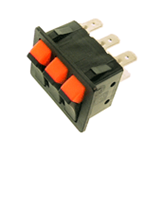UNIVERSAL TRIPLE SWITCH 240V 36MMX28MM