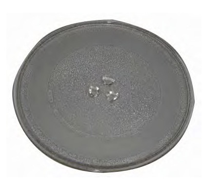 UNIVERSAL MICROWAVE TURNTABLE GLASS PLATE 255MM WITH 3 FIXINGS