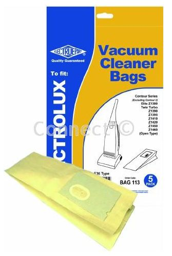 BAG113 ELECTROLUX & AEG VACUUM CLEANER PACK OF 5 BAGS