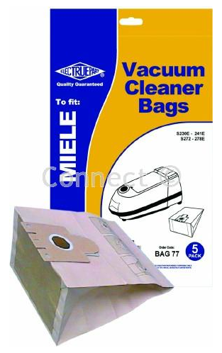 BAG77 MIELE PAPER DUST BAGS TYPE F PACK OF 5