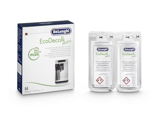 DELONGHI bean to cup coffee machine natural de-scaler 2X100ML Bo