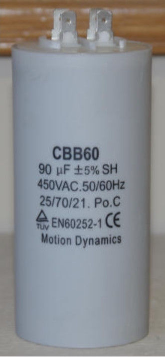 90UF MOTOR START RUN CAPACITOR CBB60 450VAC 50/60HZ